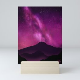 Shining Bright- Purple Galaxy Mini Art Print