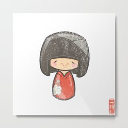 Kokeshi [Special Lucky Toy Box] Metal Print