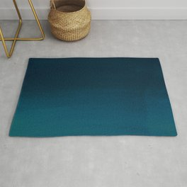Navy blue teal hand painted watercolor paint ombre Rug