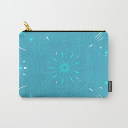 Psychadelic Space Mandala - Turquoise Carry-All Pouch
