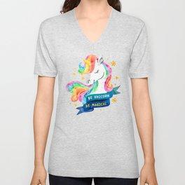 Be Unicorn Unisex V-Neck