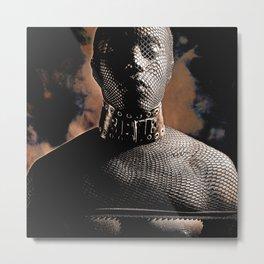 Fetish Style - Male man Masked Metal Print
