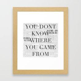 pic Framed Art Print