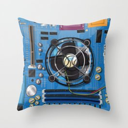 Computer Motherboard Throw Pillow