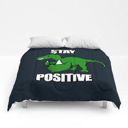 Stay Positive Iguanodon Comforters