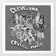 Cleveland Critical Mass Poster Art Print