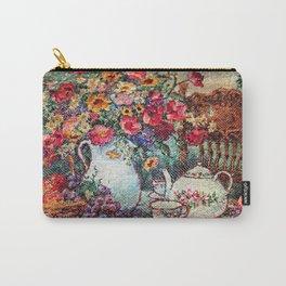 Vintage Tea Party Bouquet Carry-All Pouch