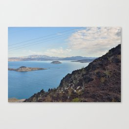 Blue Water on Lake Mead Canvas Print