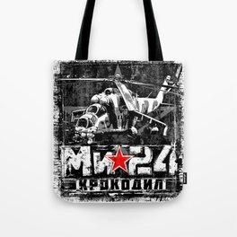 Mi-24 Soviet large helicopter Tote Bag