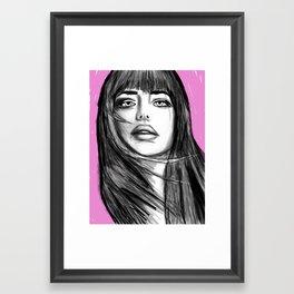 girl with fringe Framed Art Print