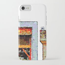 Barbarano Romano: showcase of grocery store with column iPhone Case