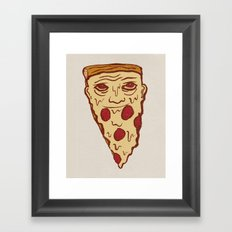 PIZZA BEARD Framed Art Print