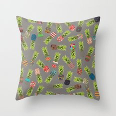 Crazy Pineapple Party Throw Pillow