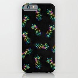 Iridescent pineapples iPhone Case
