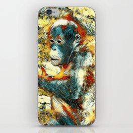 AnimalArt_OrangUtan_20170906_by_JAMColors iPhone Skin