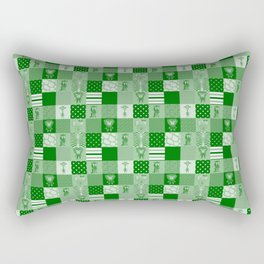 Jungle FriendsShades of Green Cheater Quilt Rectangular Pillow