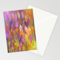 Field of Flowers in Yellow and Pink Stationery Cards