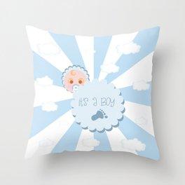 It's a boy! Throw Pillow