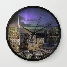 Lobster Trap Aurora Wall Clock