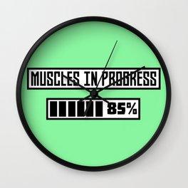 Muscles in progress workout B1l52 Wall Clock