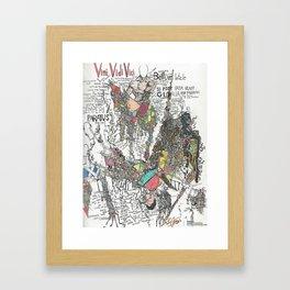Heart of a Conqueror Framed Art Print