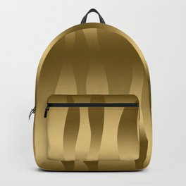 Modern Gold Abstract Zebra Stripes. Backpack