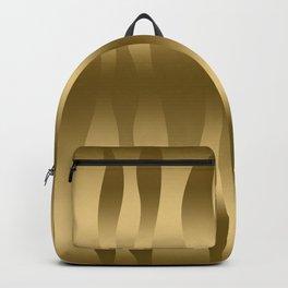 Modern Gold Abstract Zebra Stripes. Backpack