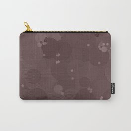 Peppercorn Bubble Dot Color Accent Carry-All Pouch