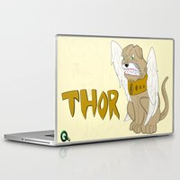 thor Laptop & iPad Skins featuring Thor by QUED