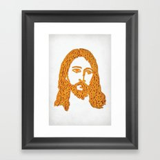 Cheesus Framed Art Print