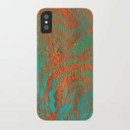 Drawing Meditation: Stencil 1 - Print 10 (orange) iPhone Case