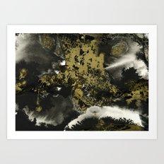 Black and Gold II Art Print