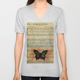 Butterfly Collage 7G by Kathy Morton Stanion Unisex V-Neck