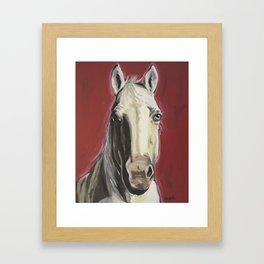 Horse Art, Red Horse Painting, Animal Art Framed Art Print