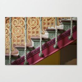 Colourful Staircase Canvas Print