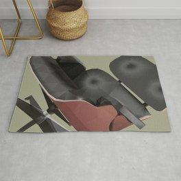 Eames Lounge Chair Polygon Art Rug