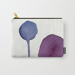 Ultra Violet Shapes Abstract Painting Carry-All Pouch