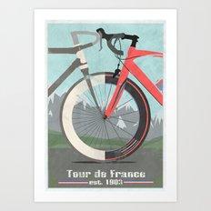 Tour De France Bicycle Art Print