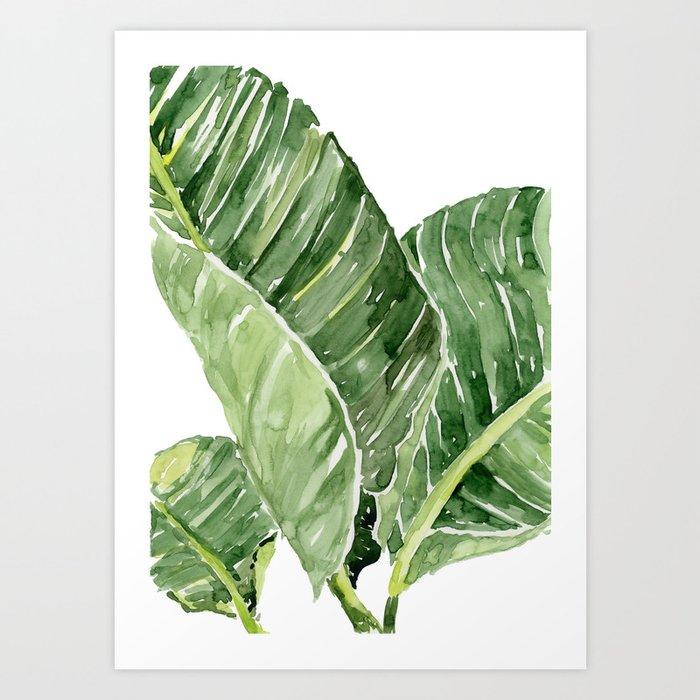 banana leaves art print by marinasotiriou society6