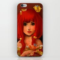 birdy iPhone & iPod Skins featuring Birdy by Anna Lisa Wardle