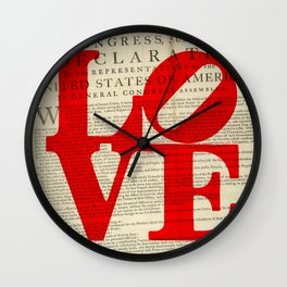Declare the Love in Philly Wall Clock