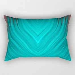 stripes wave pattern 3 2s Rectangular Pillow
