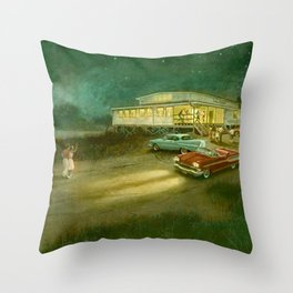Rock Around The Clock-1950's Throw Pillow