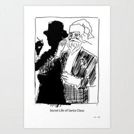 Secret Life of Santa Claus. Art Print