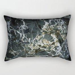 BLACK MARBLE ROCK WITH QUARTZ Rectangular Pillow