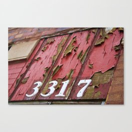 Chicago Apartment Numbers Canvas Print