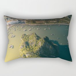 Last light of Ha Long Bay, Vietnam. Rectangular Pillow