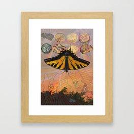 Rainbow,butterfly,GS Cookies Framed Art Print