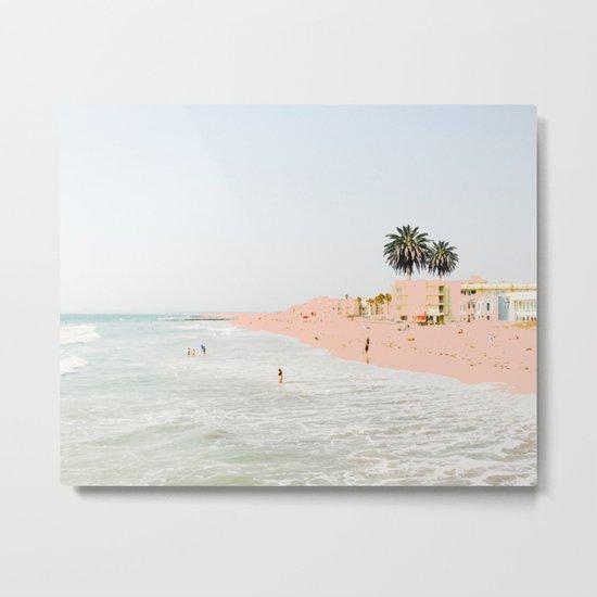 Pink Beach #society6 #decor #buyart Metal Print