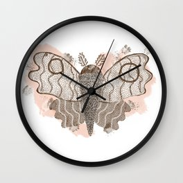 ghost moth Wall Clock
